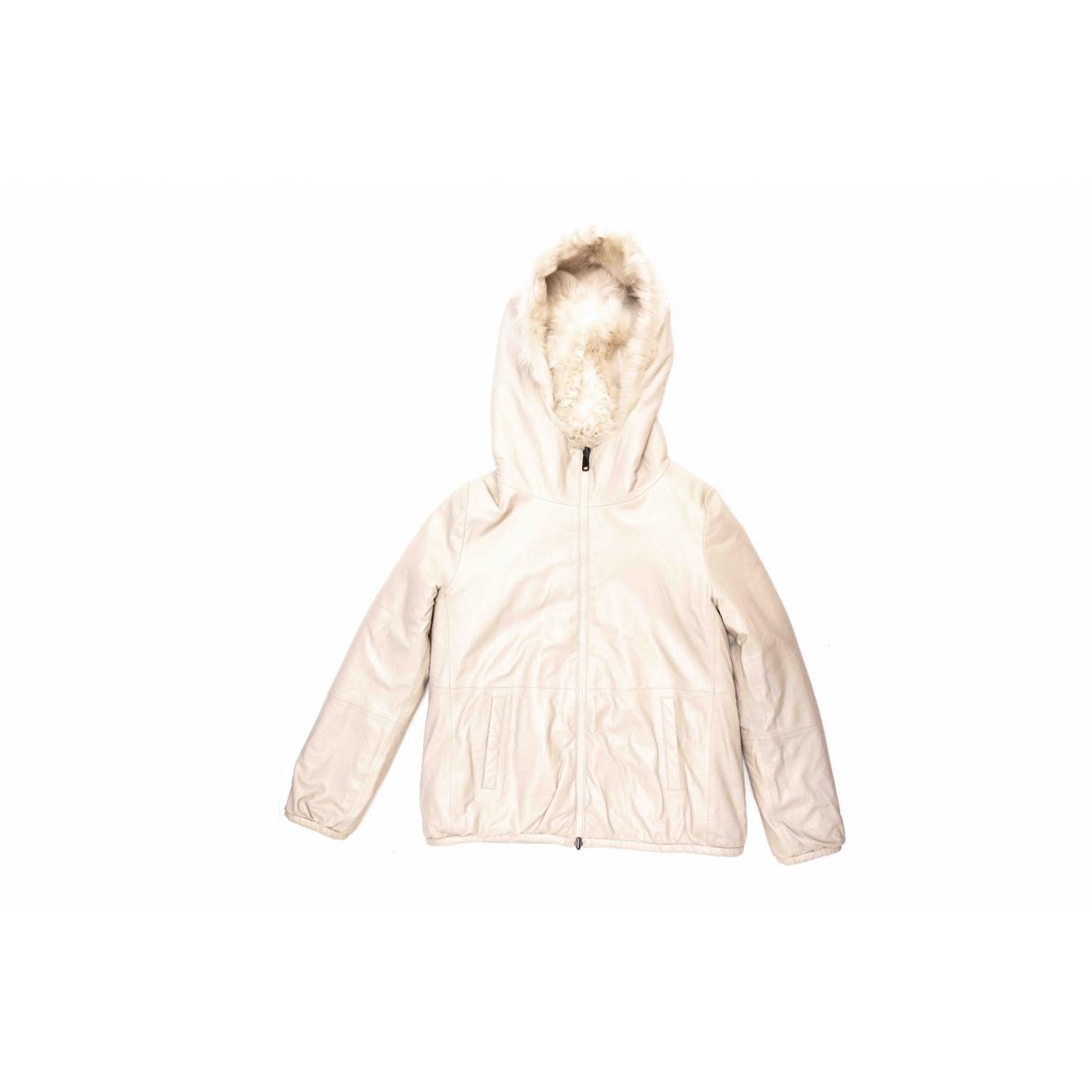 Brunello Cucinelli \N White Fur jacket for Women 38 FR