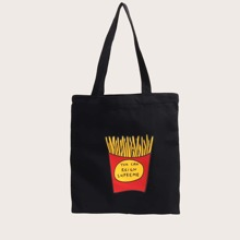 French Fries Graphic Shopper Bag