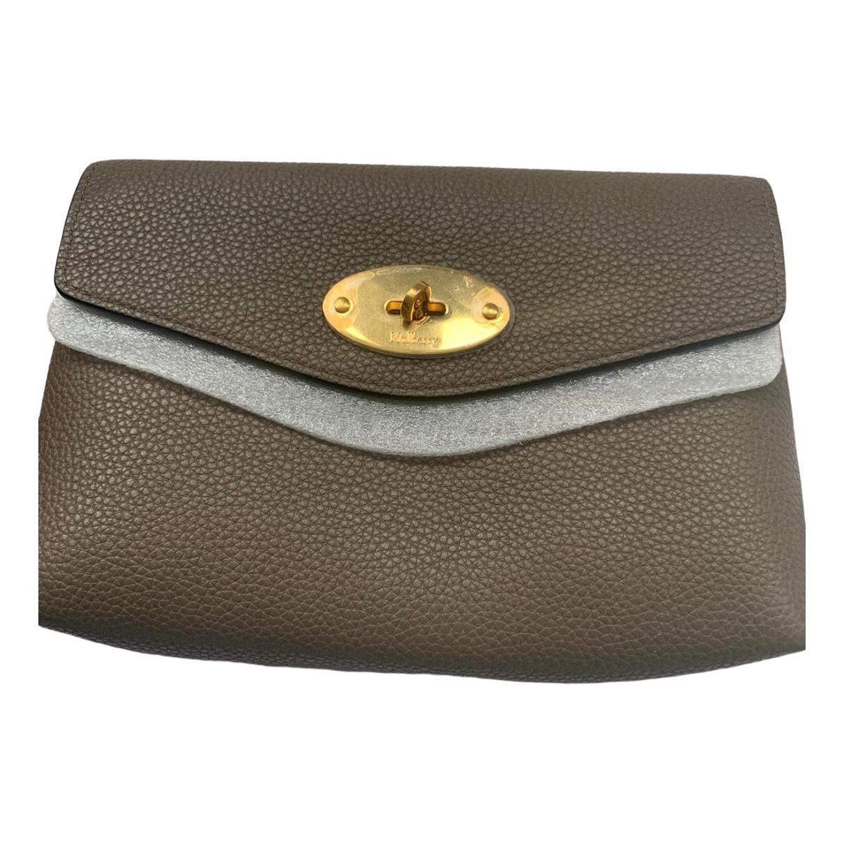 Mulberry \N Grey Leather Clutch bag for Women \N