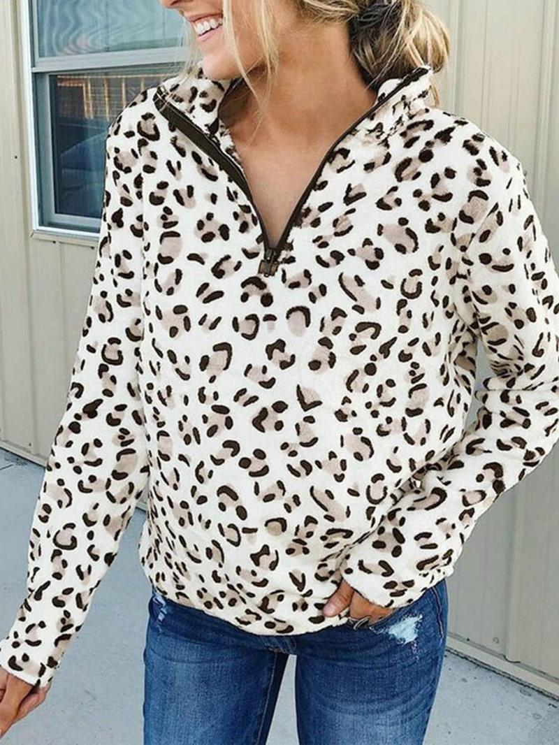 Ericdress Regular Print Leopard Fall Standard Hoodie