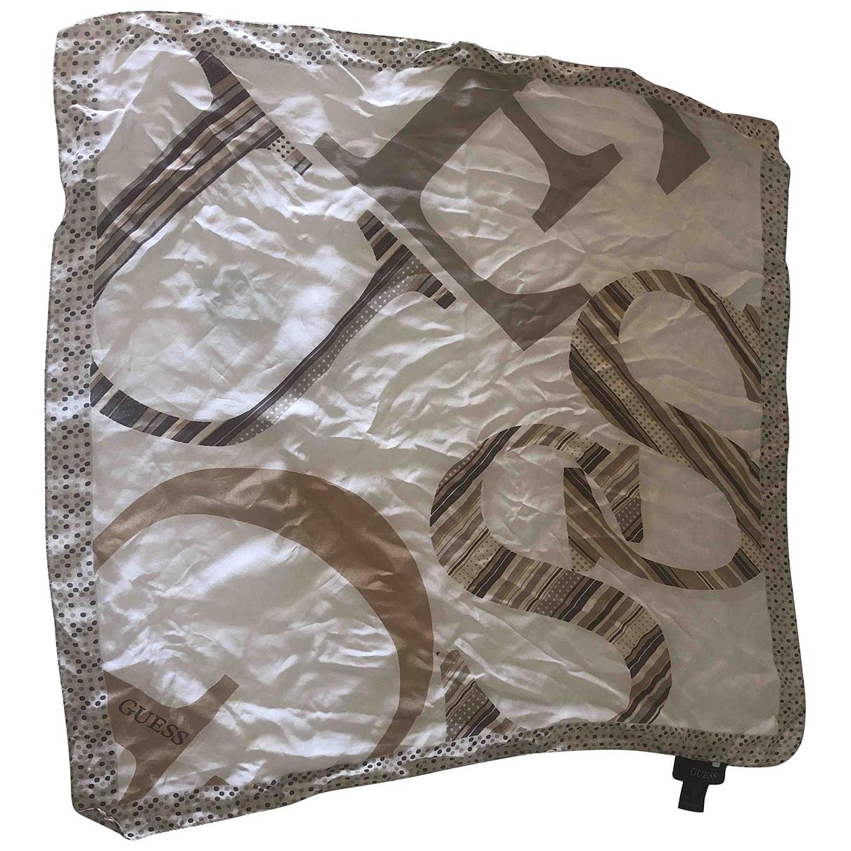 Guess \N Beige Silk scarf for Women \N