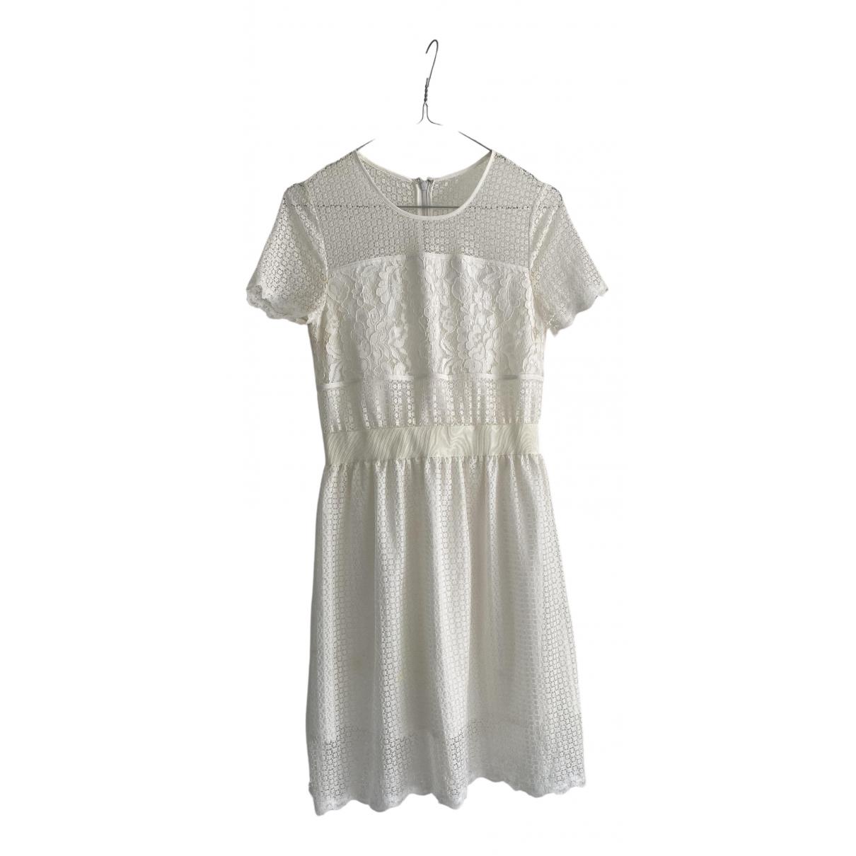 Fallwinterspringsummer - Robe   pour femme en dentelle - blanc
