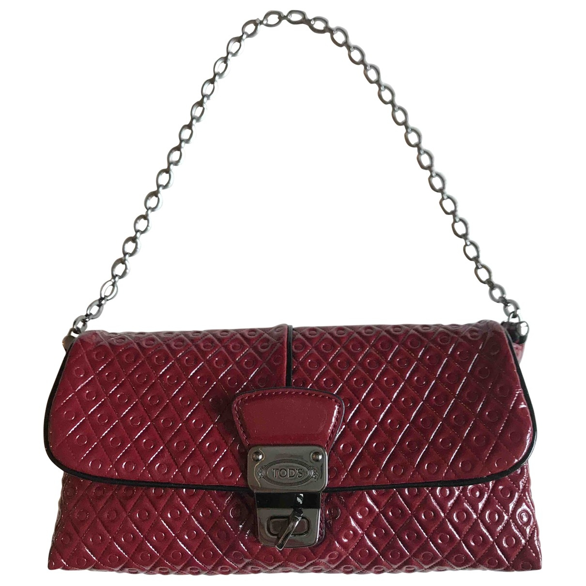 Tod's \N Red Patent leather handbag for Women \N