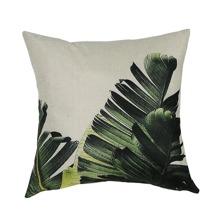 Leaf Print Cushion Cover