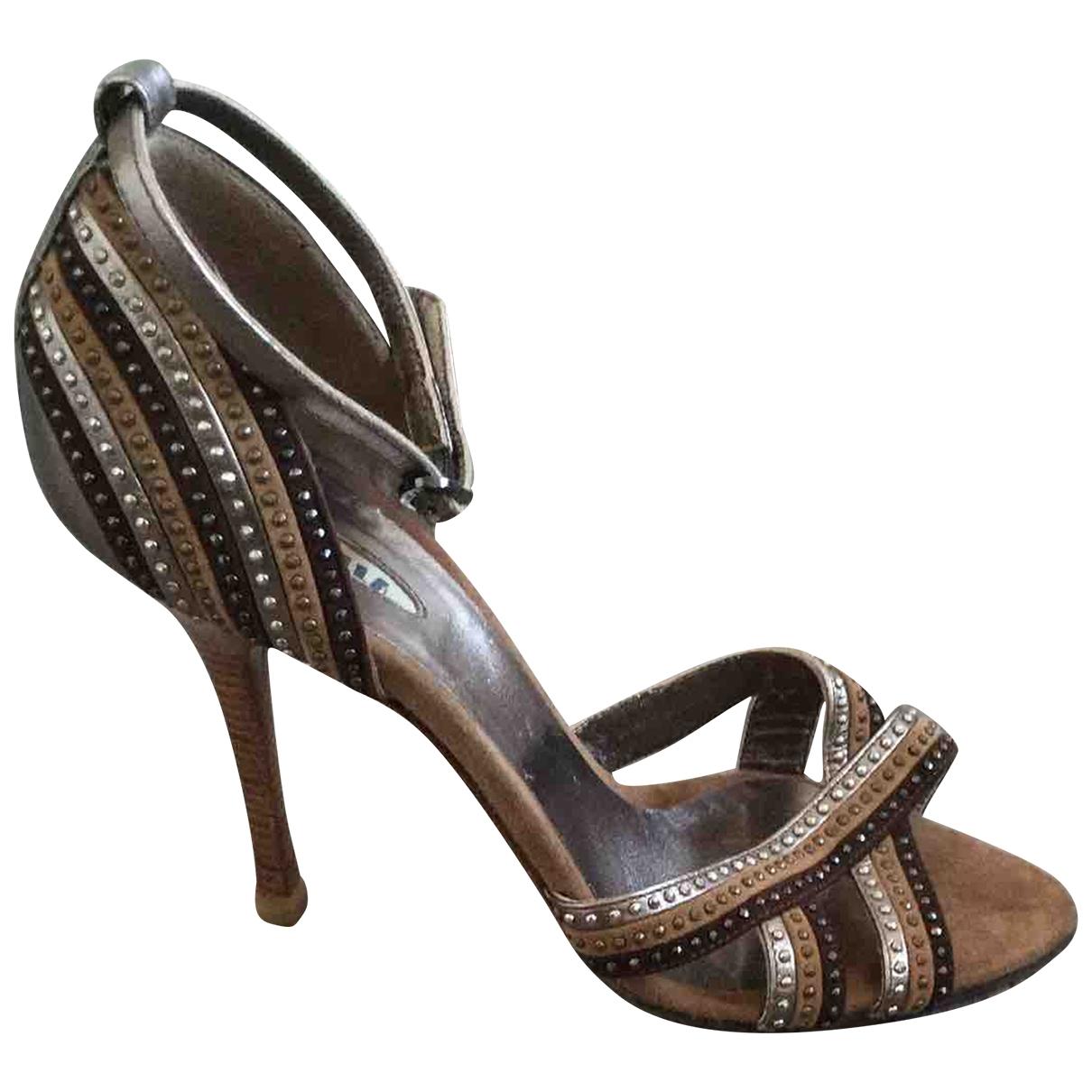 Le Silla - Escarpins   pour femme en cuir - marron