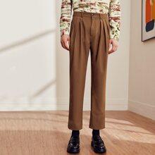 Pantalones con fruncido delantero