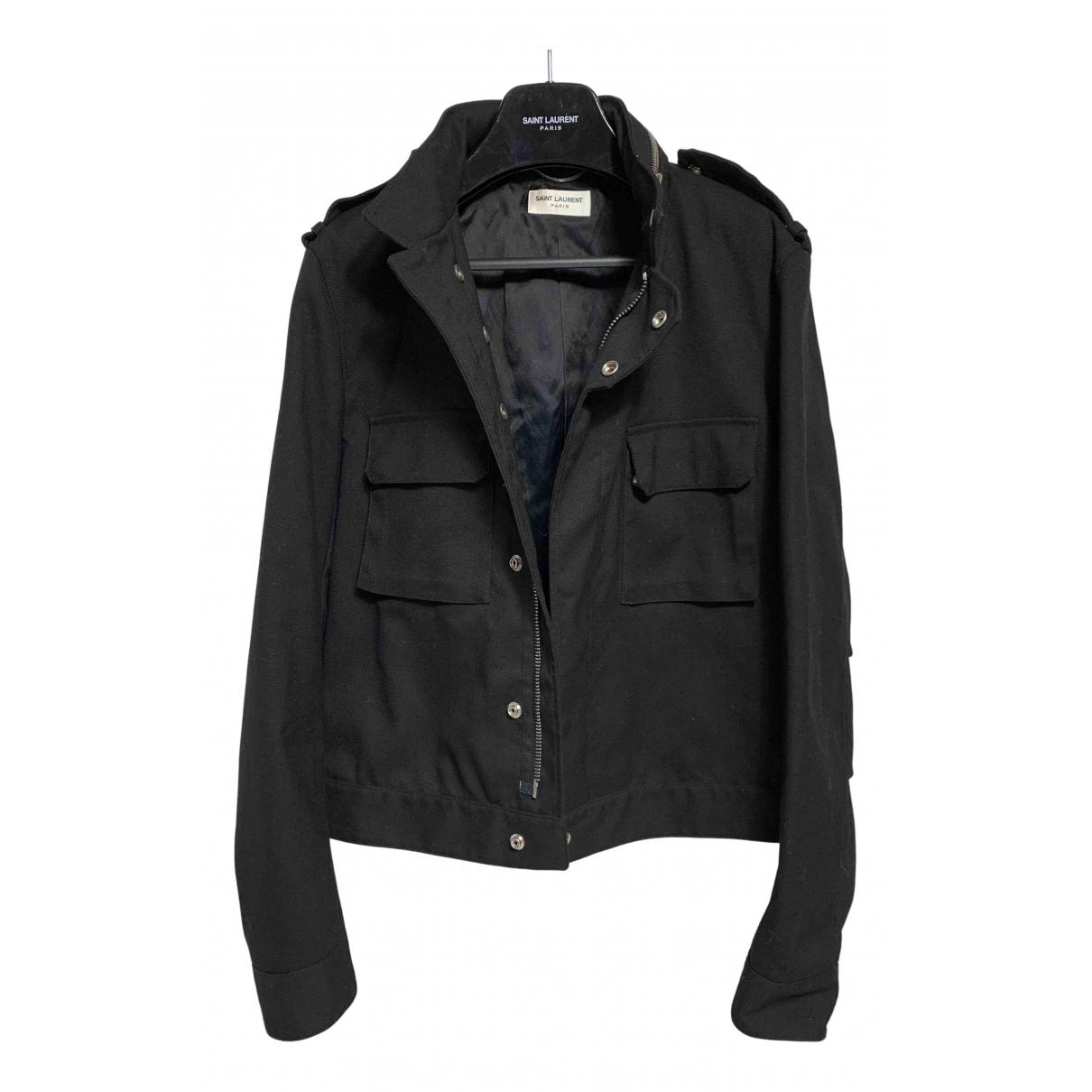 Saint Laurent N Black Cotton jacket  for Men M International