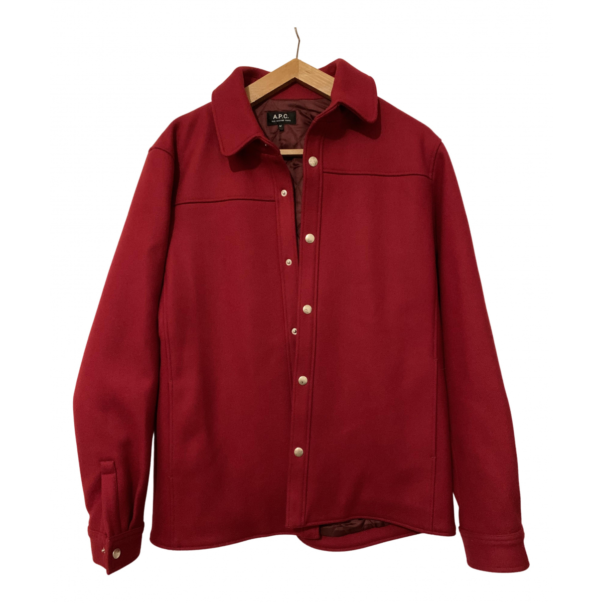 Apc \N Jacke in  Rot Wolle