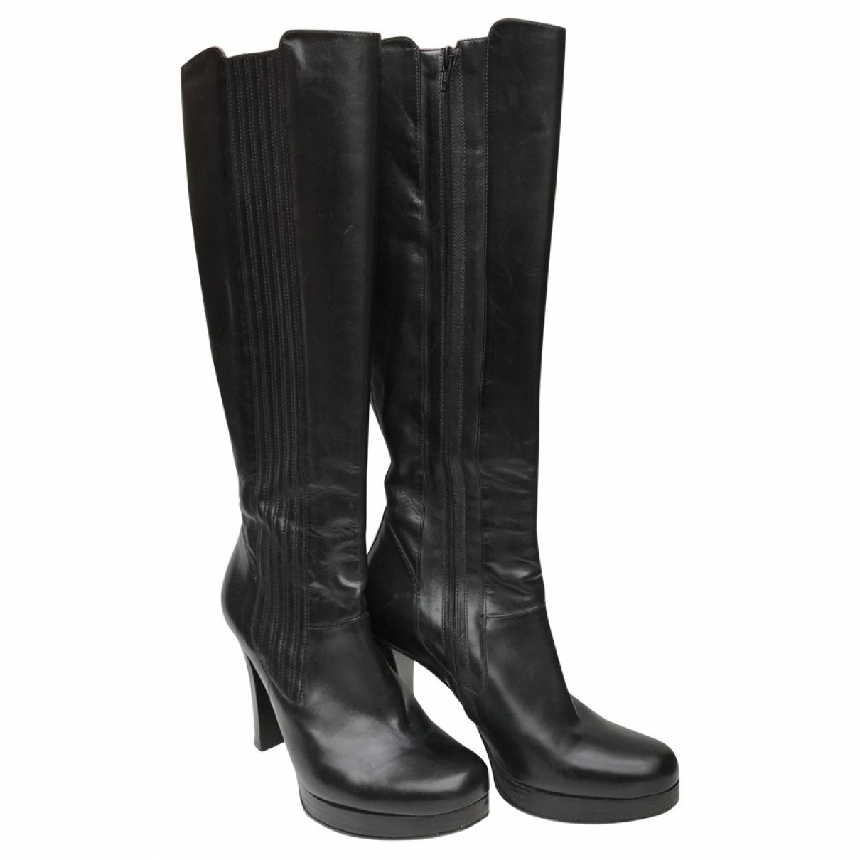 Free Lance \N Black Leather Boots for Women 37 EU