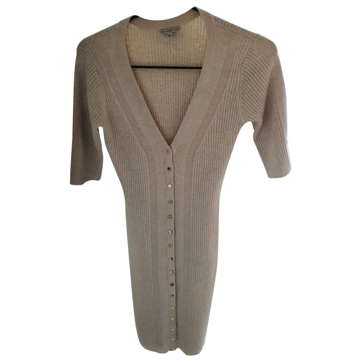 Guess - Robe   pour femme en coton - beige