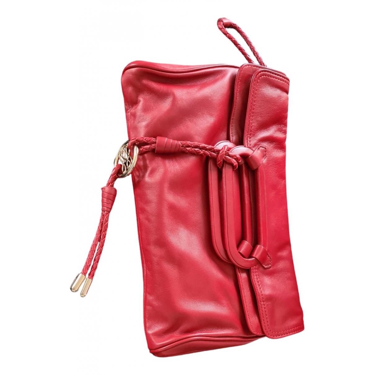 Lancel - Pochette French Flair pour femme en cuir - bordeaux
