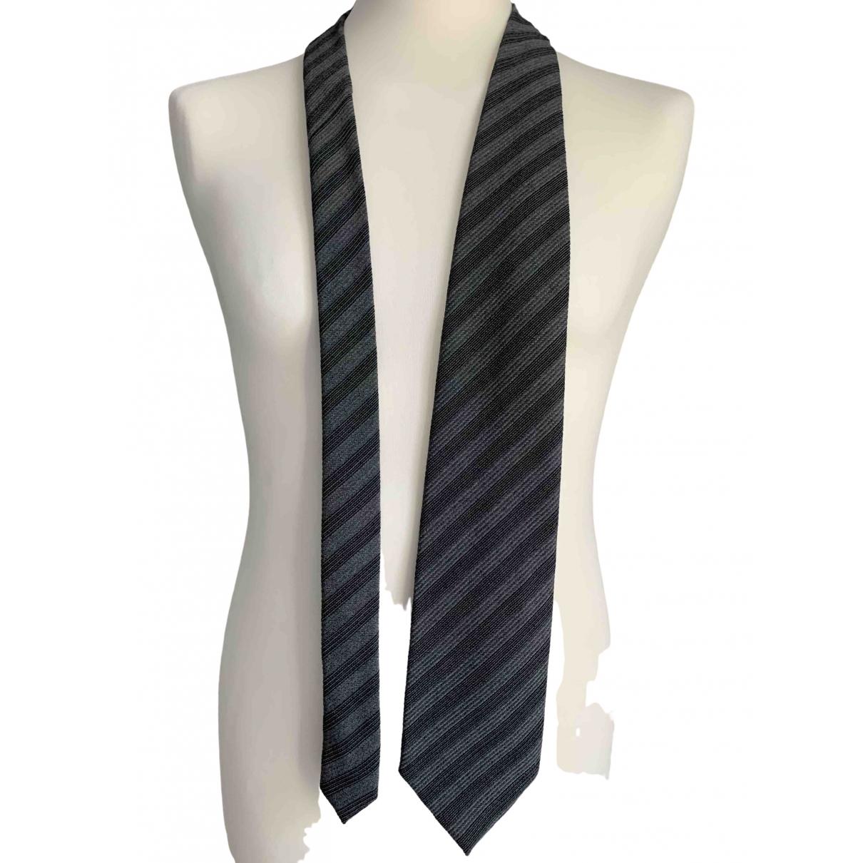 Boss \N Krawatten in  Anthrazit Wolle
