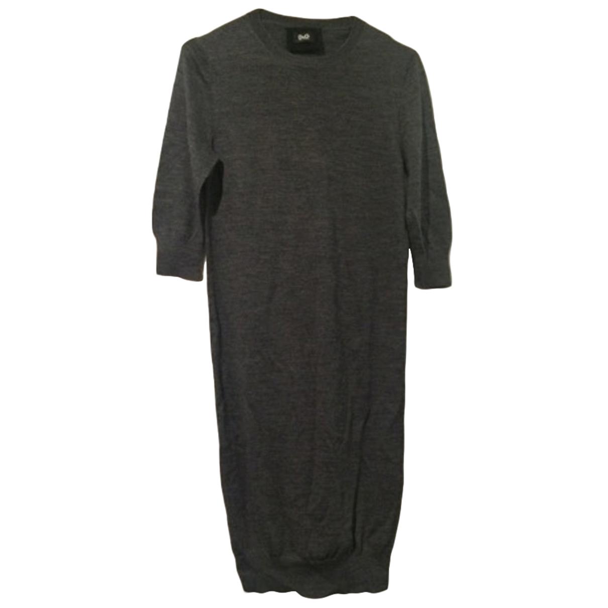D&g - Robe   pour femme en laine - anthracite