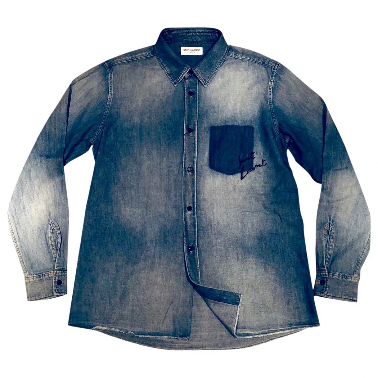 Saint Laurent - Chemises   pour homme en coton - bleu