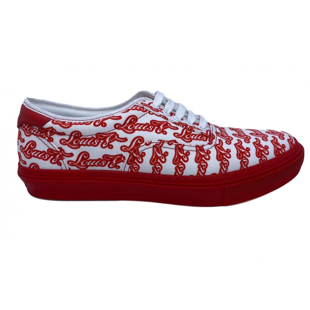 Louis Vuitton \N Sneakers in  Rot Leinen