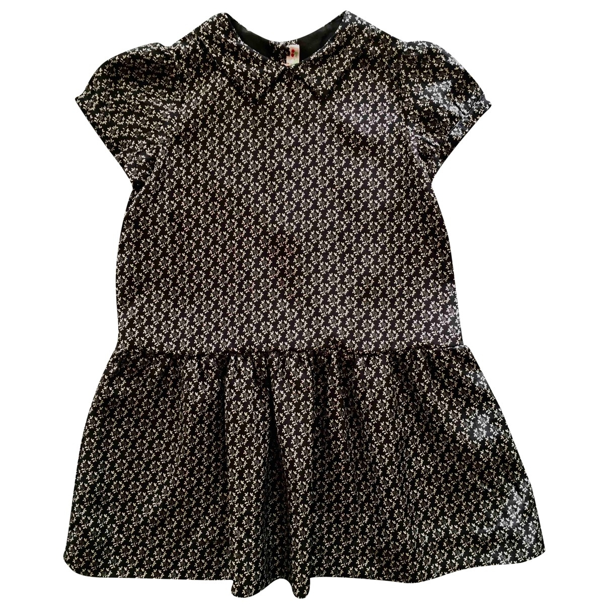 Bonpoint - Robe    pour enfant en soie - noir
