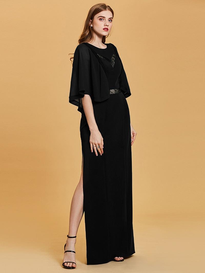 Ericdress Scoop Neck Half Sleeves A Line Evening Dress