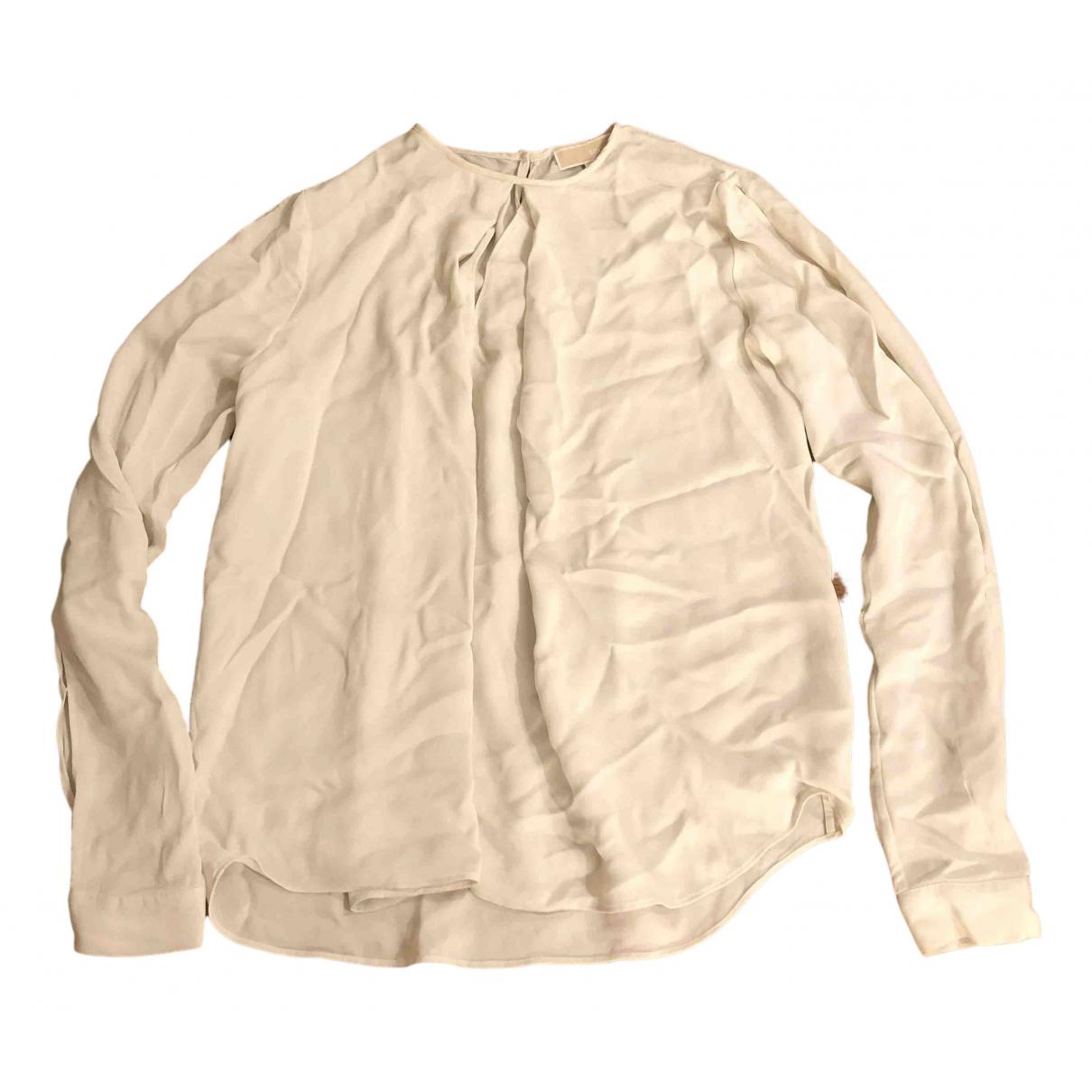 Michael Kors - Top   pour femme en soie - ecru