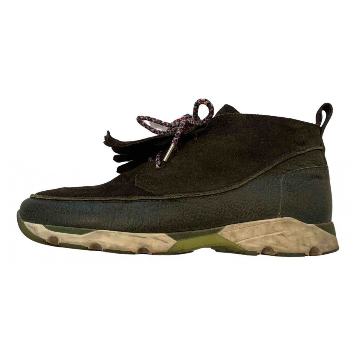 Carven \N Sneakers in  Khaki Leder