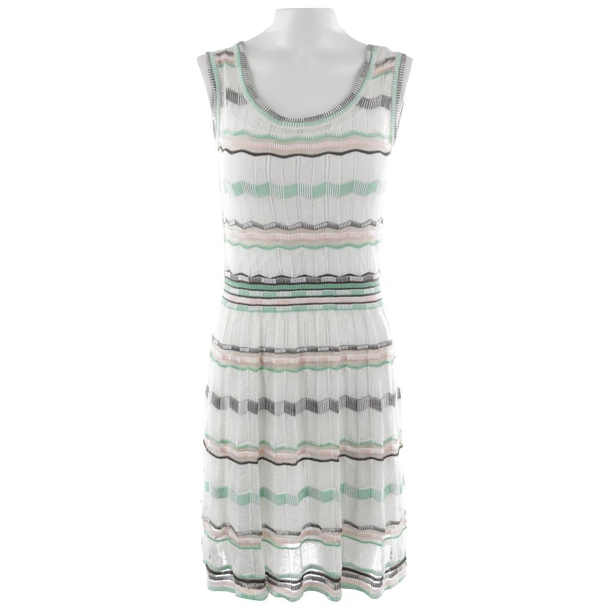 M Missoni - Robe   pour femme en coton - blanc