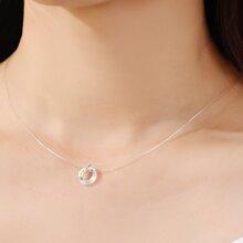 Halskette mit rundem Anhaenger