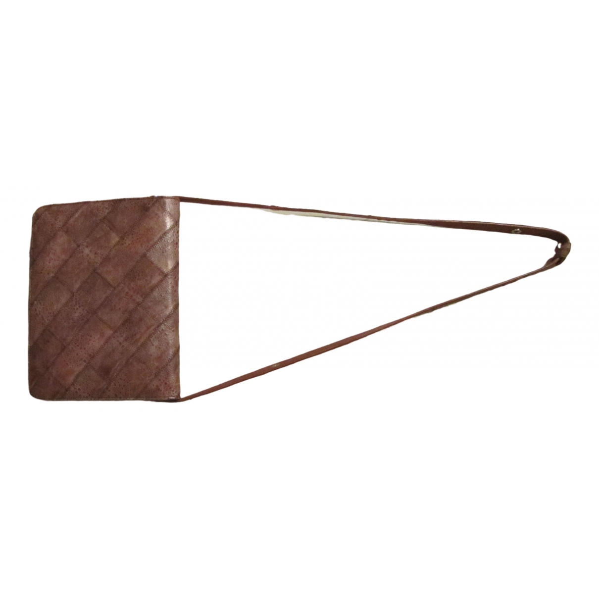 Non Signé / Unsigned \N Brown Exotic leathers handbag for Women \N