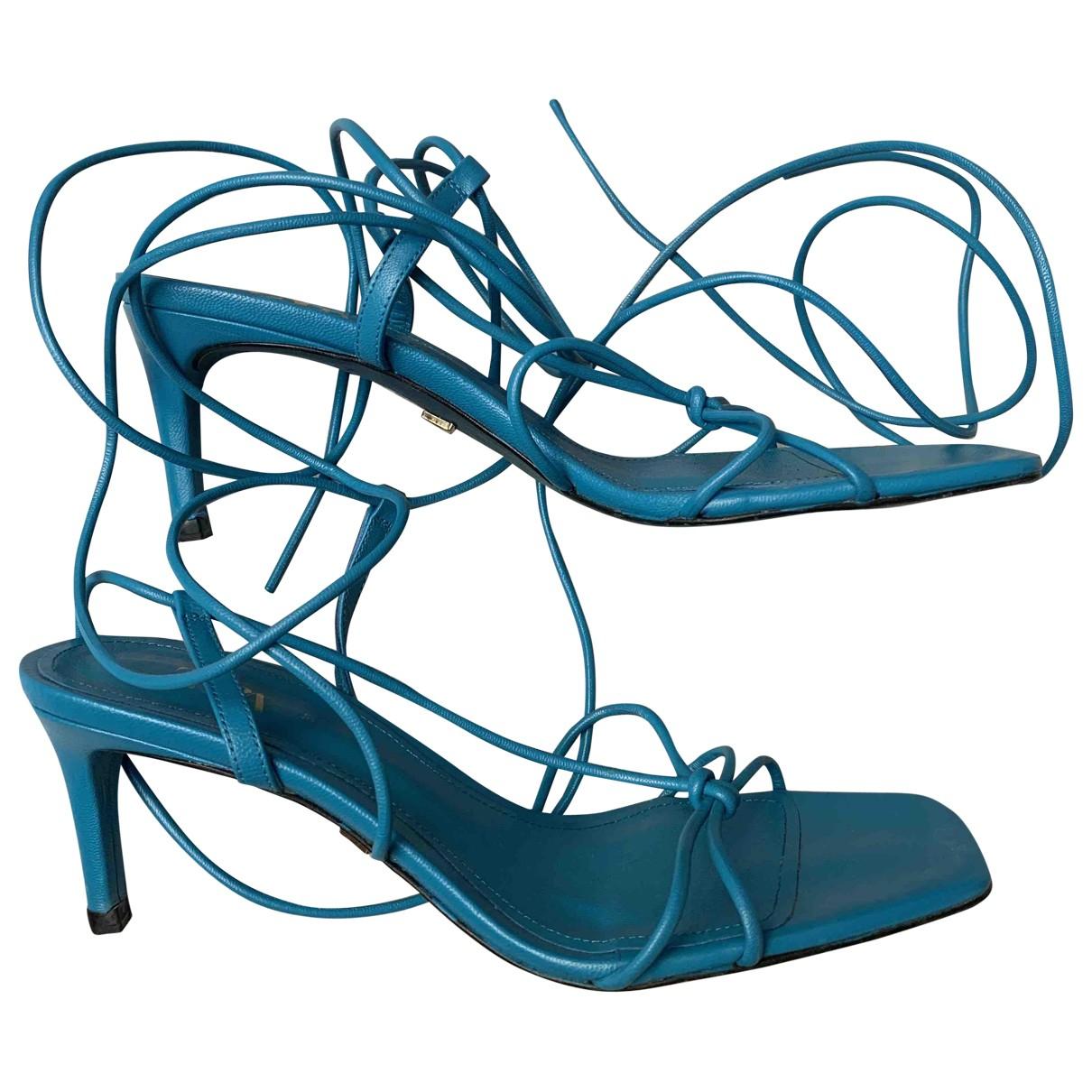 Zara \N Sandalen in  Blau Leder