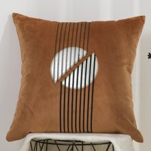 PU Circle Pattern Cushion Cover Without Filler