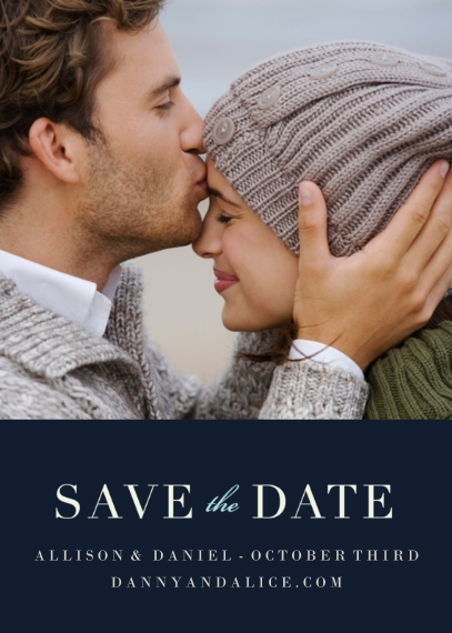 Save the Date Flat Matte Photo Paper Cards with Envelopes, 5x7, Card & Stationery -Now & Forever