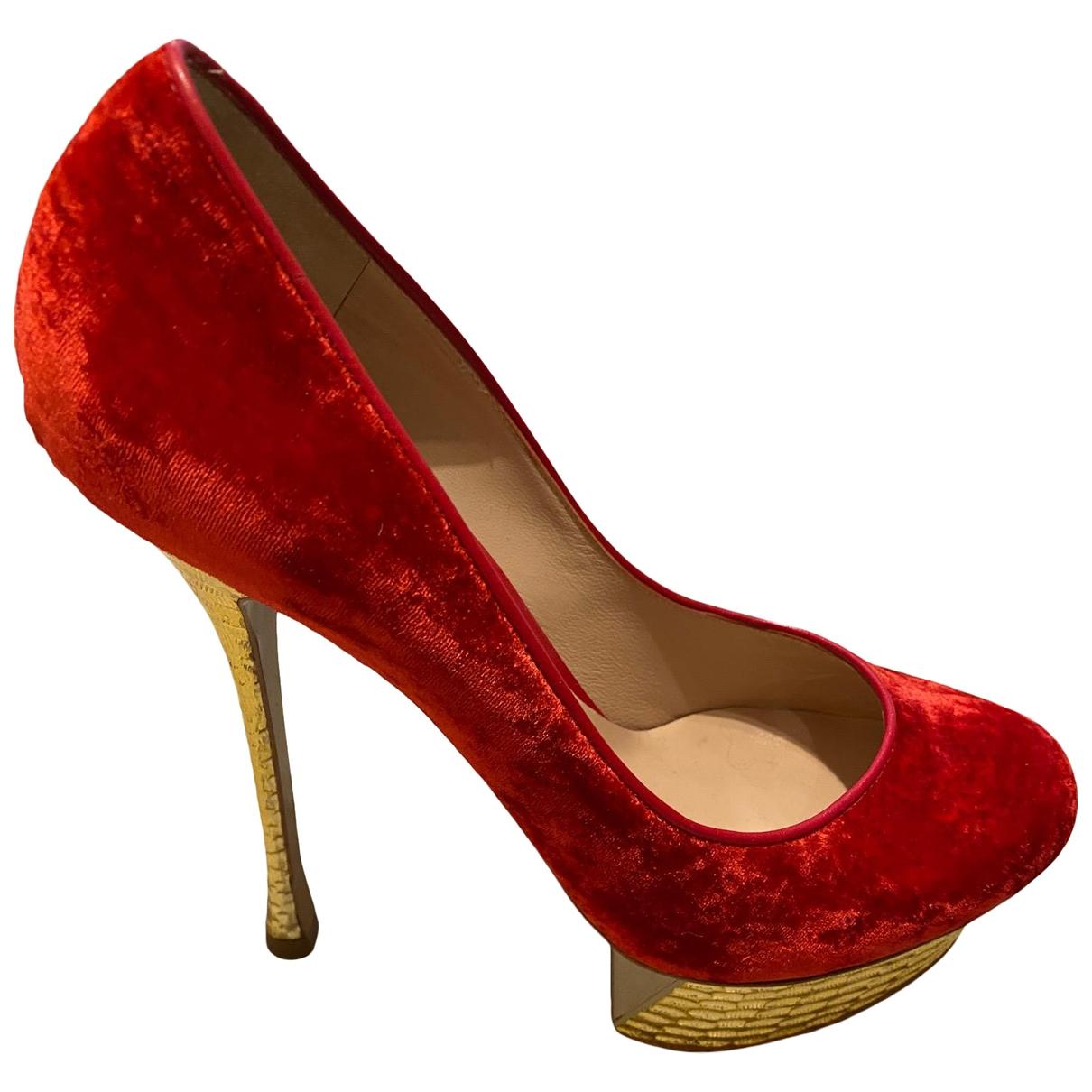 Nicholas Kirkwood - Escarpins   pour femme en velours - rouge