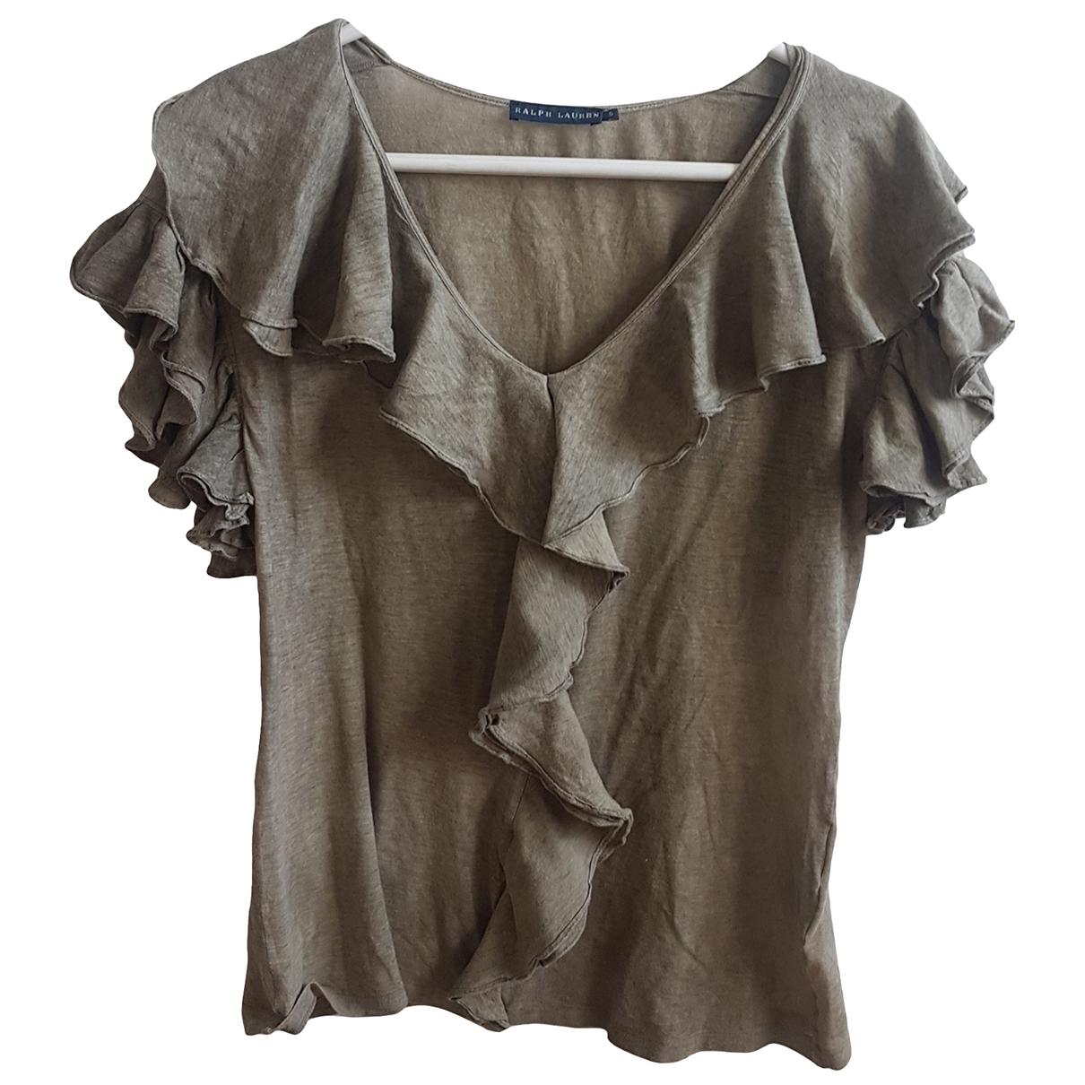Ralph Lauren - Top   pour femme en coton - kaki