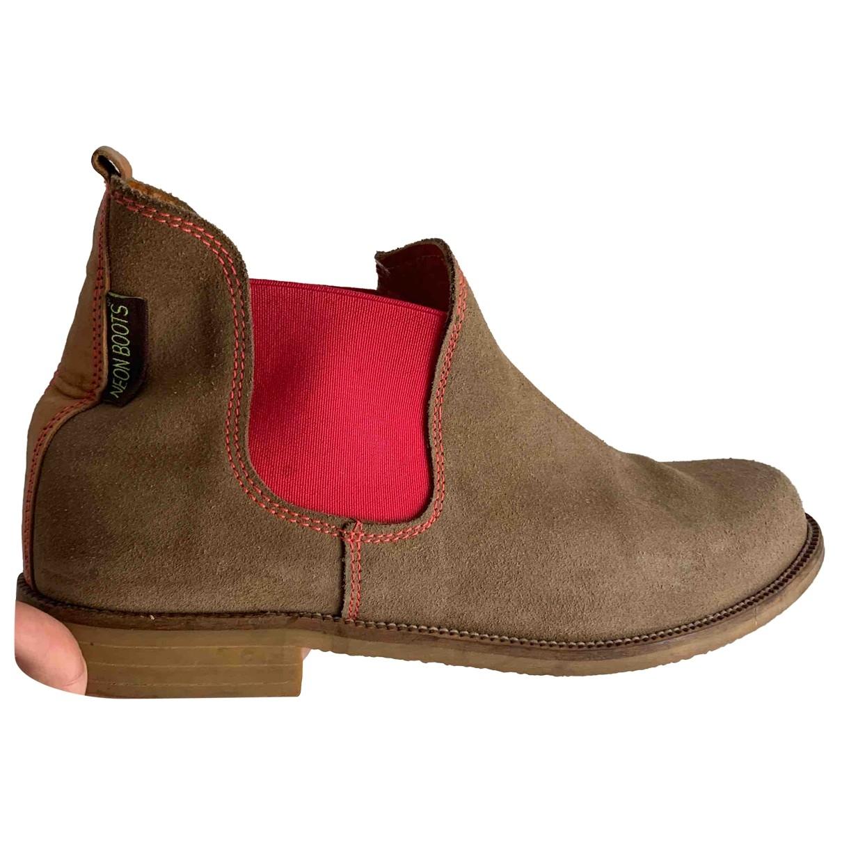 Noon Goons - Boots   pour femme en suede - beige