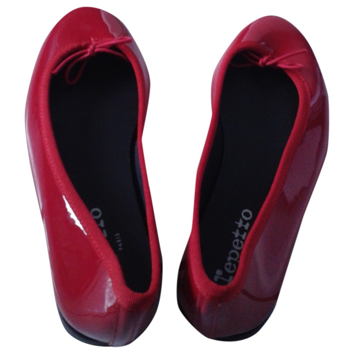 Repetto \N Red Patent leather Ballet flats for Women 37 EU