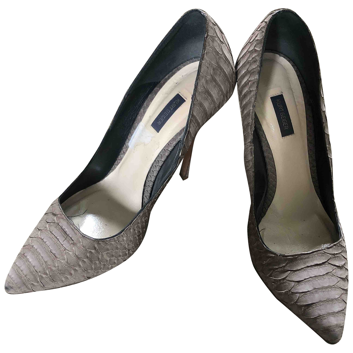 Kurt Geiger \N Grey Leather Heels for Women 38 EU