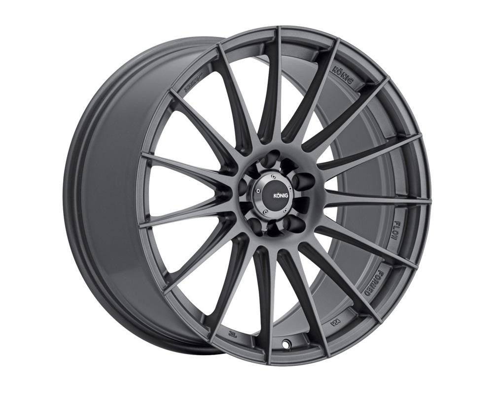 Konig Rennform Matte Grey Wheel 17x8 5x108 38
