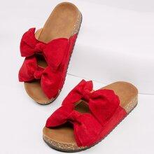 Sandalen mit Twist und Schleife
