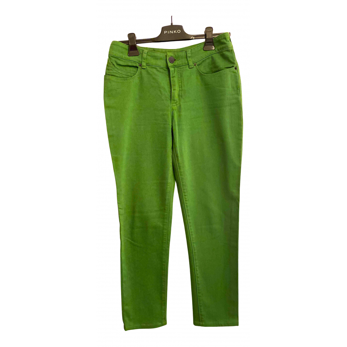 Armani Jeans N Green Cotton Trousers for Women 38 IT