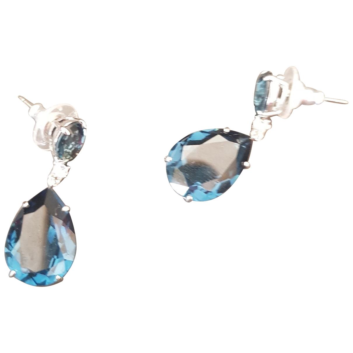 - Boucles doreilles   pour femme en cristal - bleu