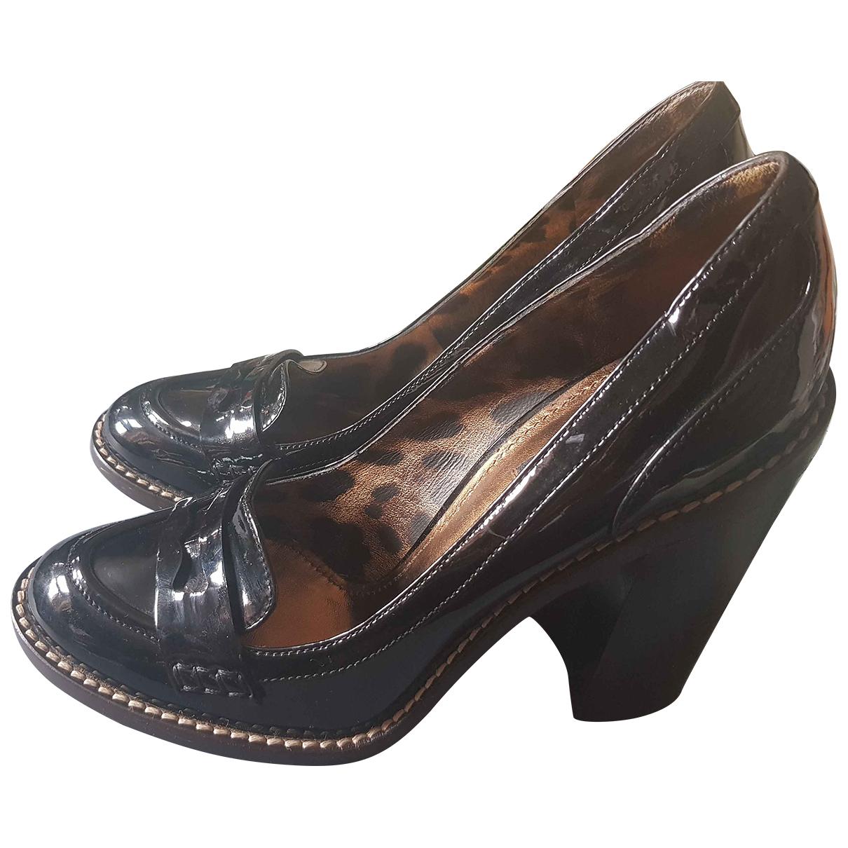 Dolce & Gabbana - Escarpins   pour femme en cuir - noir