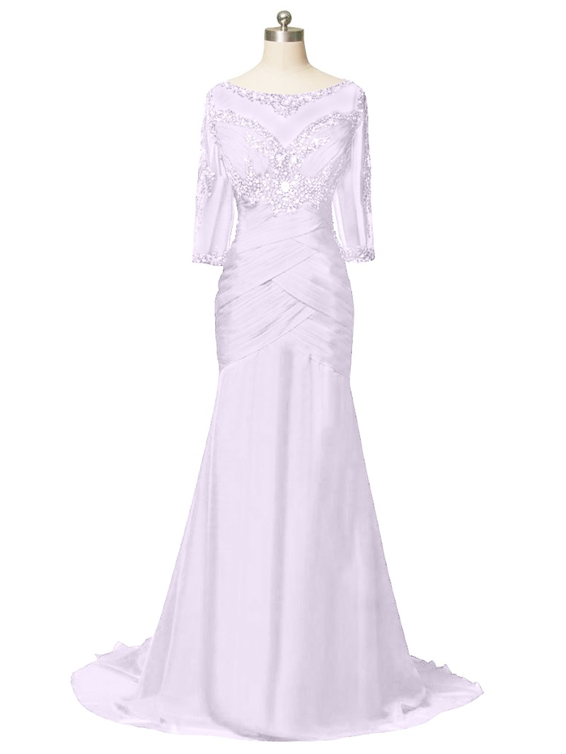 Ericdress Beaded Half Sleeves Mermaid Mother Of The Bride Dress