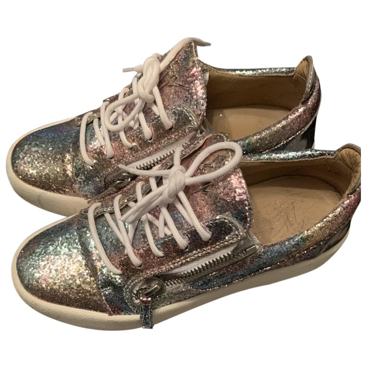 Giuseppe Zanotti Nicki Multicolour Glitter Trainers for Women 39 EU