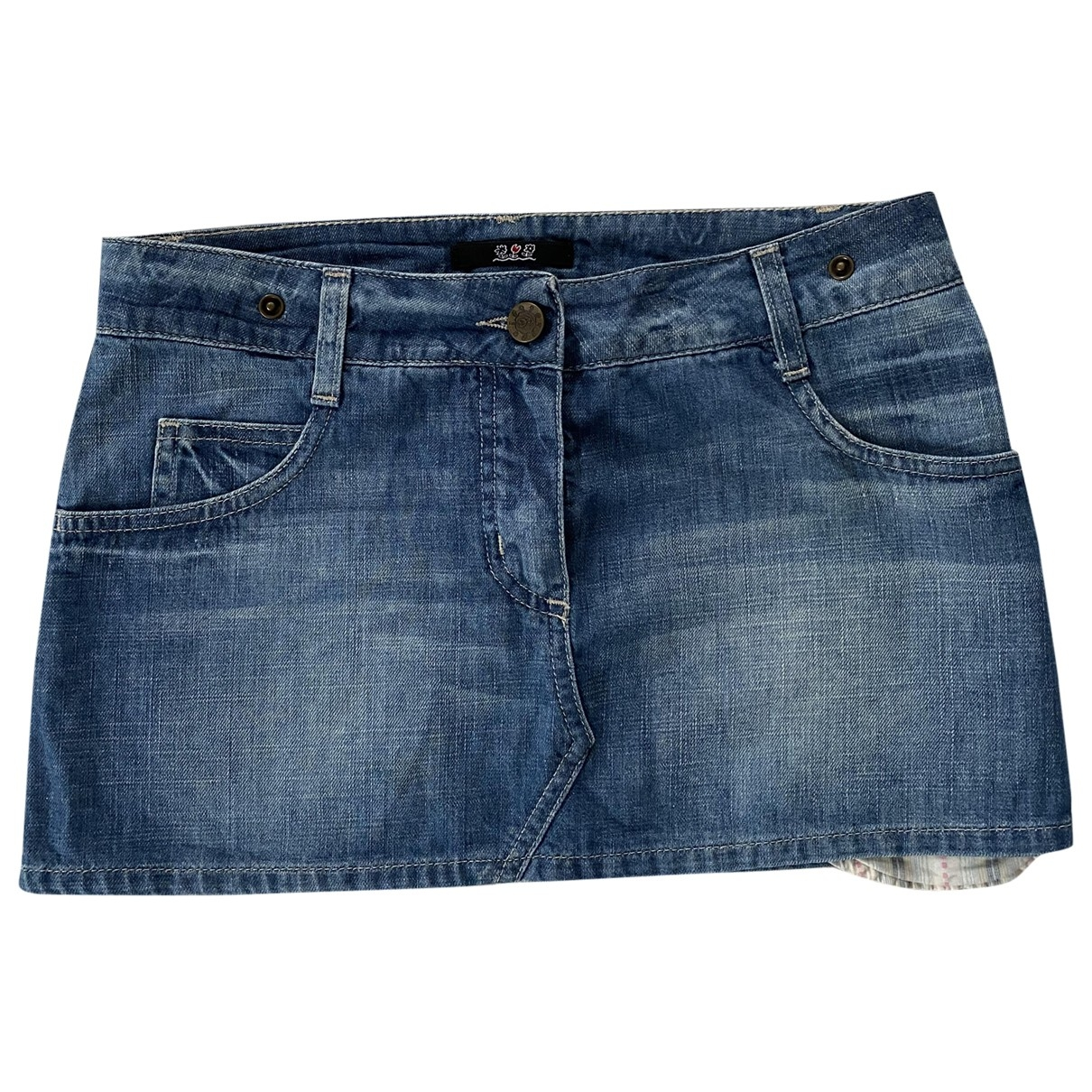 Patrizia Pepe \N Blue Cotton skirt for Women 40 IT