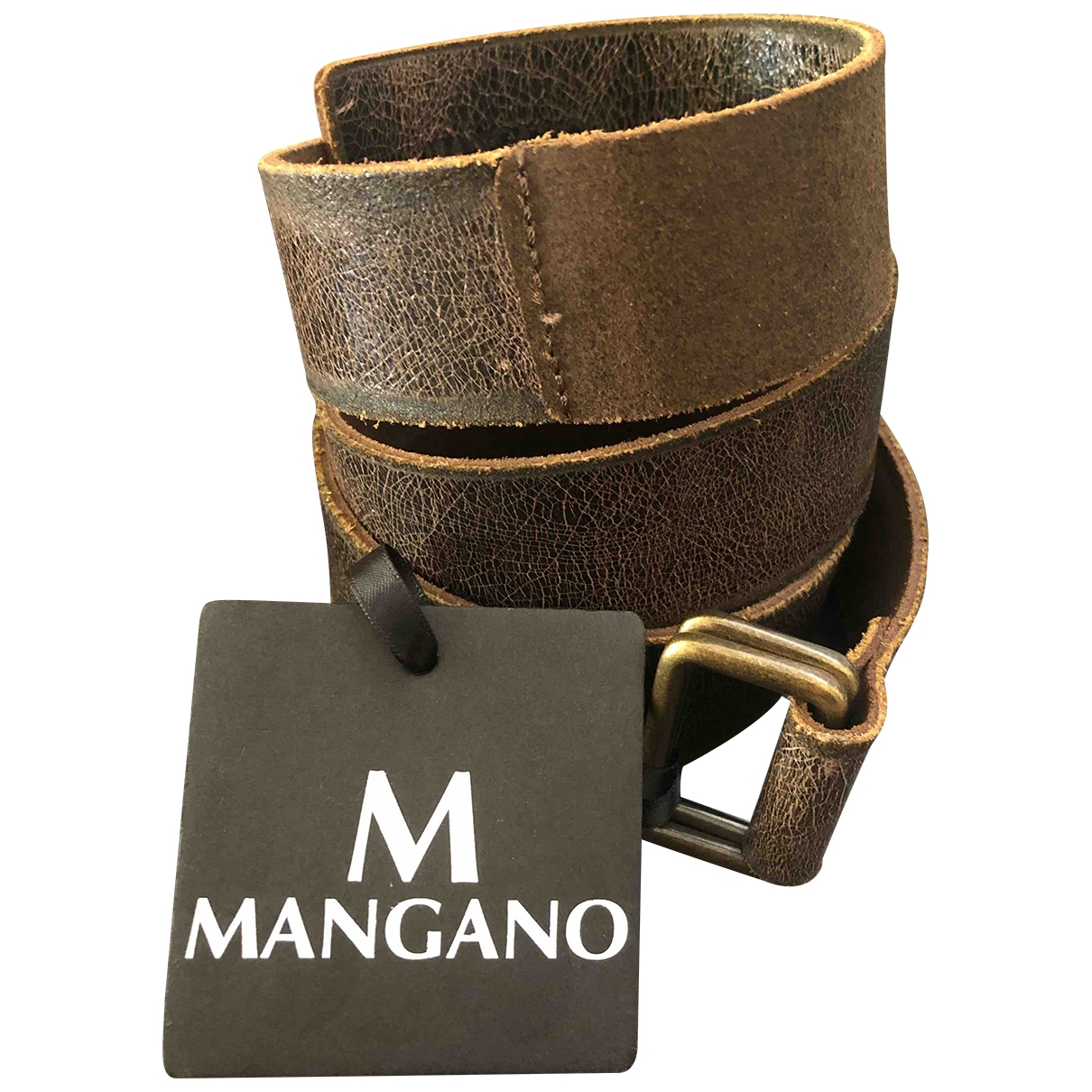 Mangano \N Brown Leather belt for Women 95 cm