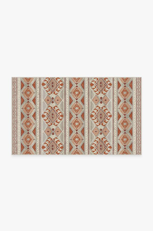 Washable Rug Cover & Pad | Suku Terracotta Rug | Stain-Resistant | Ruggable | 3'x5'