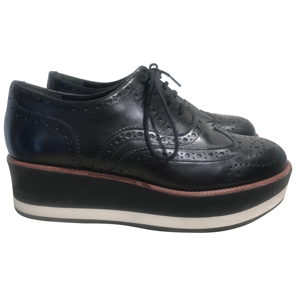 Paloma Barcelo \N Black Leather Flats for Women 36 IT