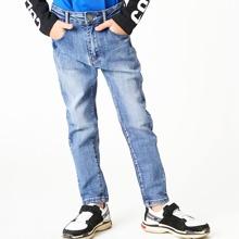 Boys Zipper Fly Straight Leg Jeans