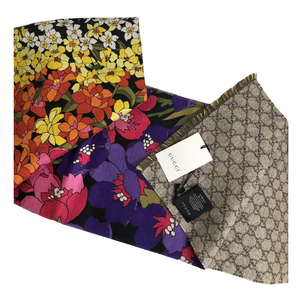 Gucci - Foulard   pour femme en cachemire - multicolore
