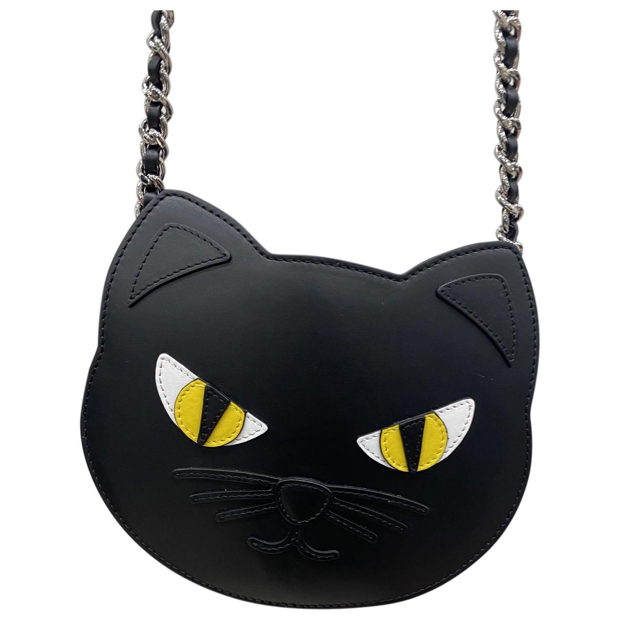 Moschino \N Handtasche in  Schwarz Leder