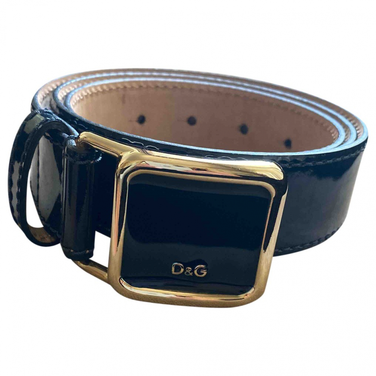 D&g \N Navy Patent leather belt for Women 90 cm