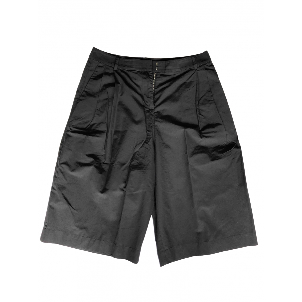 T By Alexander Wang \N Black Cotton Trousers for Women 2 0-5